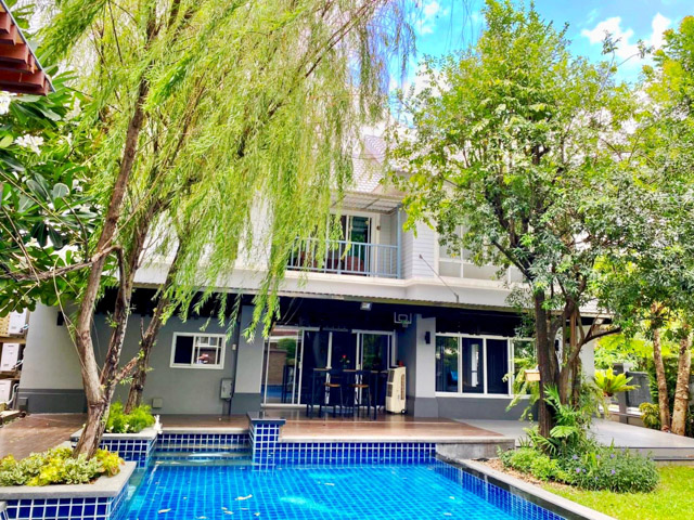For SaleHouseLadprao 48, Chokchai 4, Ladprao 71 : [[Sell large house, 128 Wah, shady]] Private swimming pool, Ladprao 71